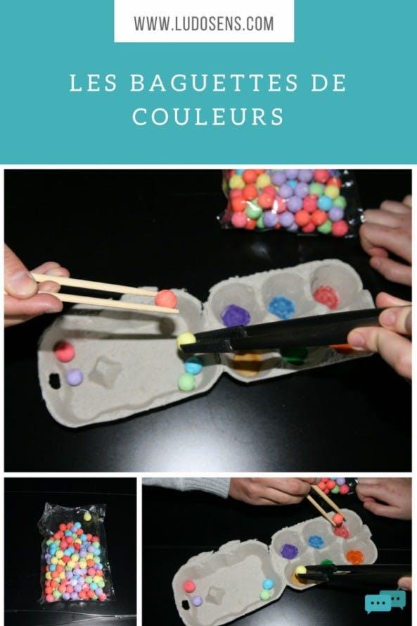 tutoriel / DIY / baguettes de couleur
