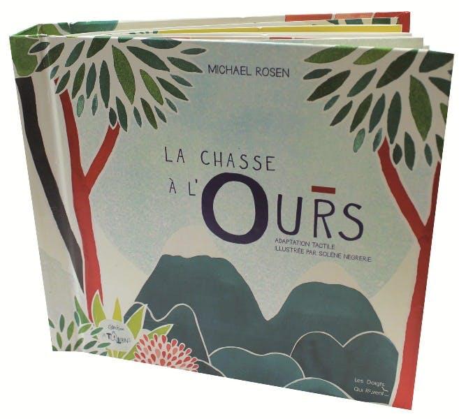 """Philippe Claudet : Concepteur de livres tactiles / couverture de """"la chasse à l'ours"""""""