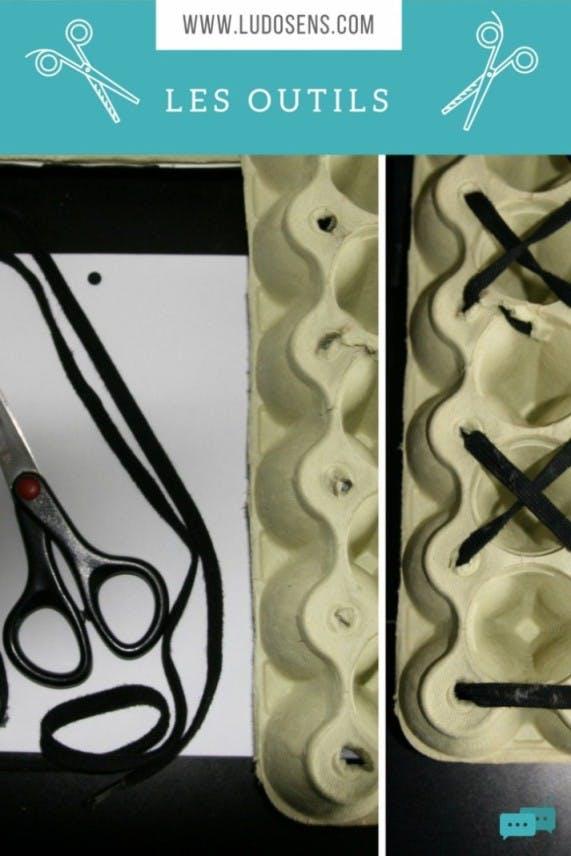 Tutoriel / DIY / La boite à lacets / les fournitures