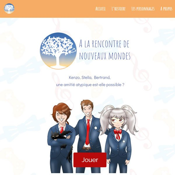 site vitrine du visual novel de ludosens